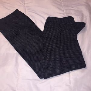 NY & Co black dress pants w/ white dot pattern (8)
